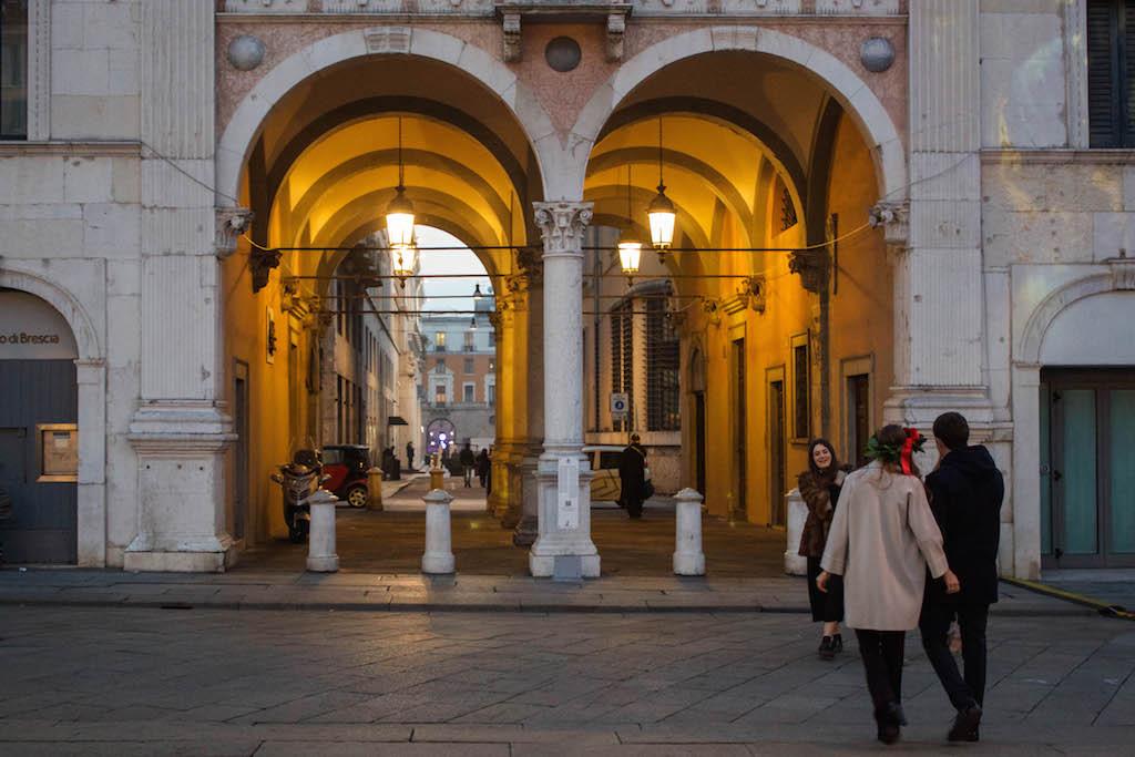 Streets of Brescia - Girl Wth Flower in Her Hair