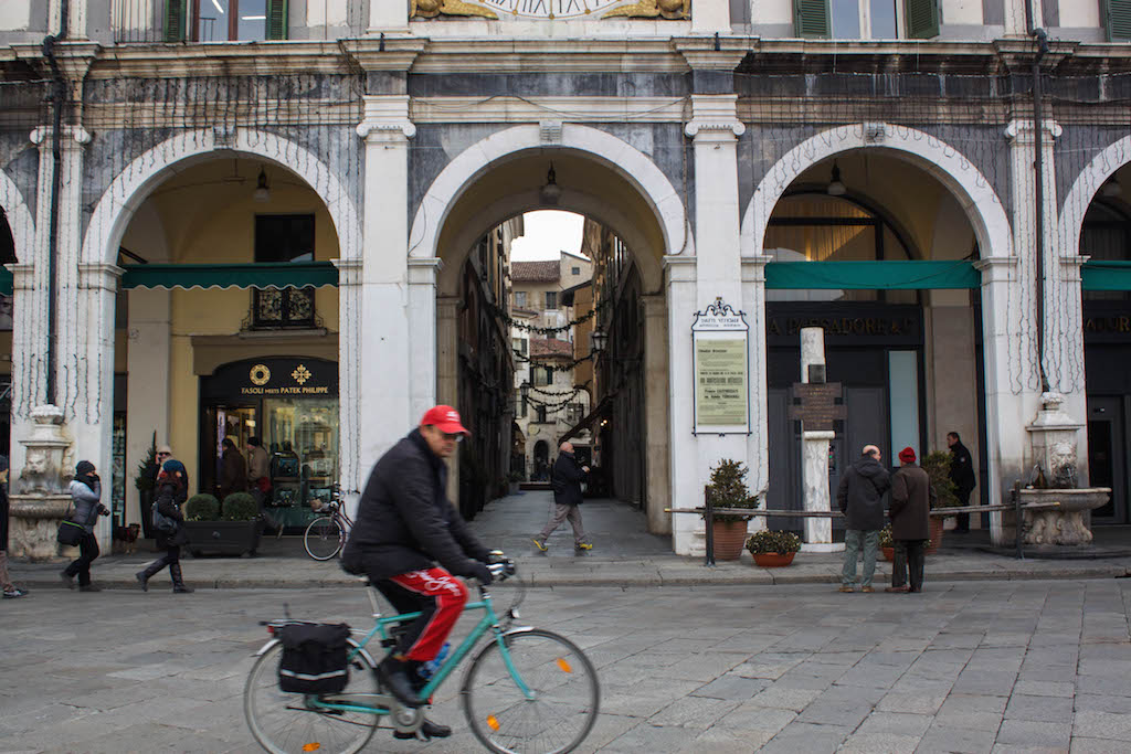 Streets of Brescia - Man on Bike