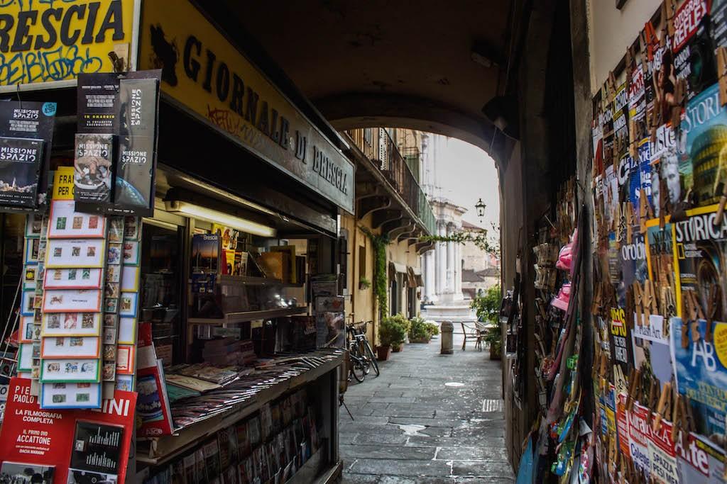 Streets of Brescia - Newstands