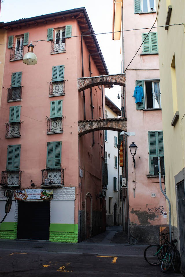 Streets of Brescia - Pink Facade and Bike