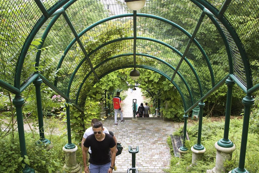 Paris Photos Parc de Belleville Path