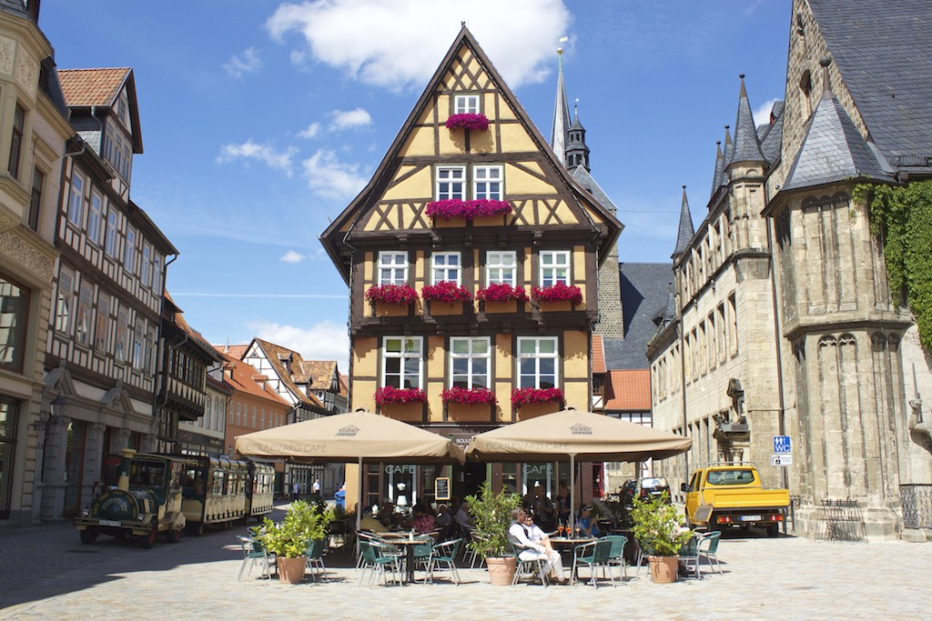 Quedlinberg Germany Cafe Main Square