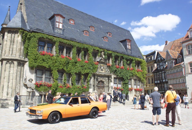 Quedlinberg Germany Car in Main Square