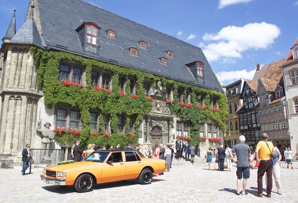 Quedlinberg Germany Car in Main Square