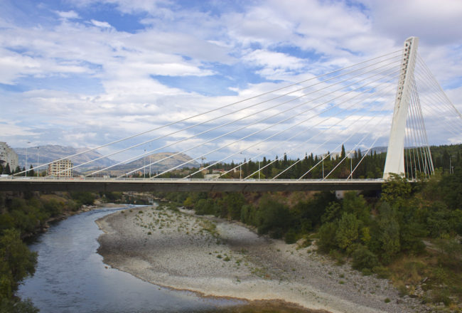 Visit Podgorica Millenium Bridge View