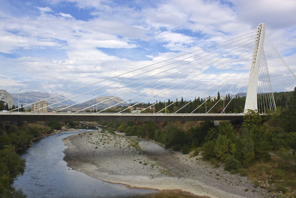 Visit Podgorica Millennium Bridge View