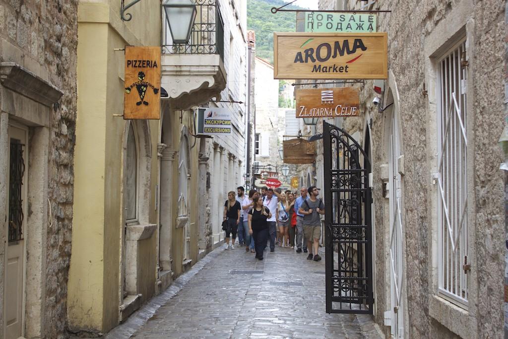 Budva Old Town - Tourists