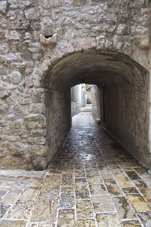 Budva Old Town - Tunnel