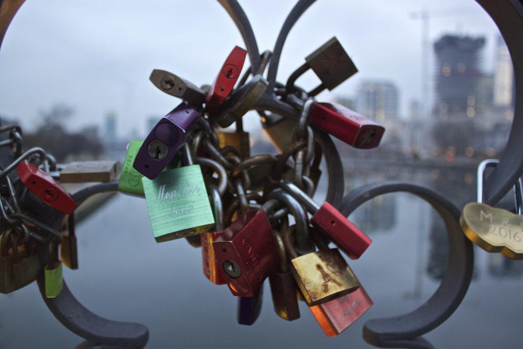 Frankfurt Photos - Love Locks on the Eiserner Steg