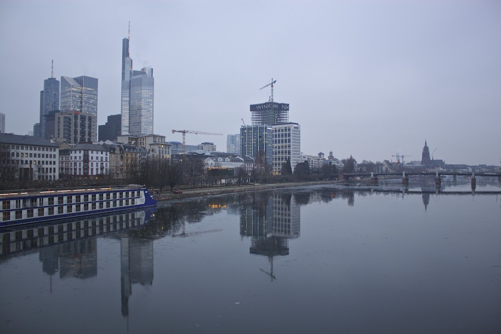 Frankfurt Photos - Main River City View