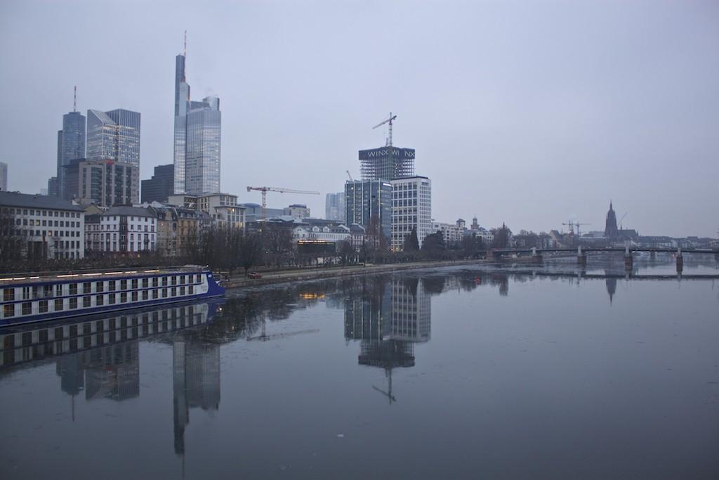 Frankfurt Photos - Main River City View