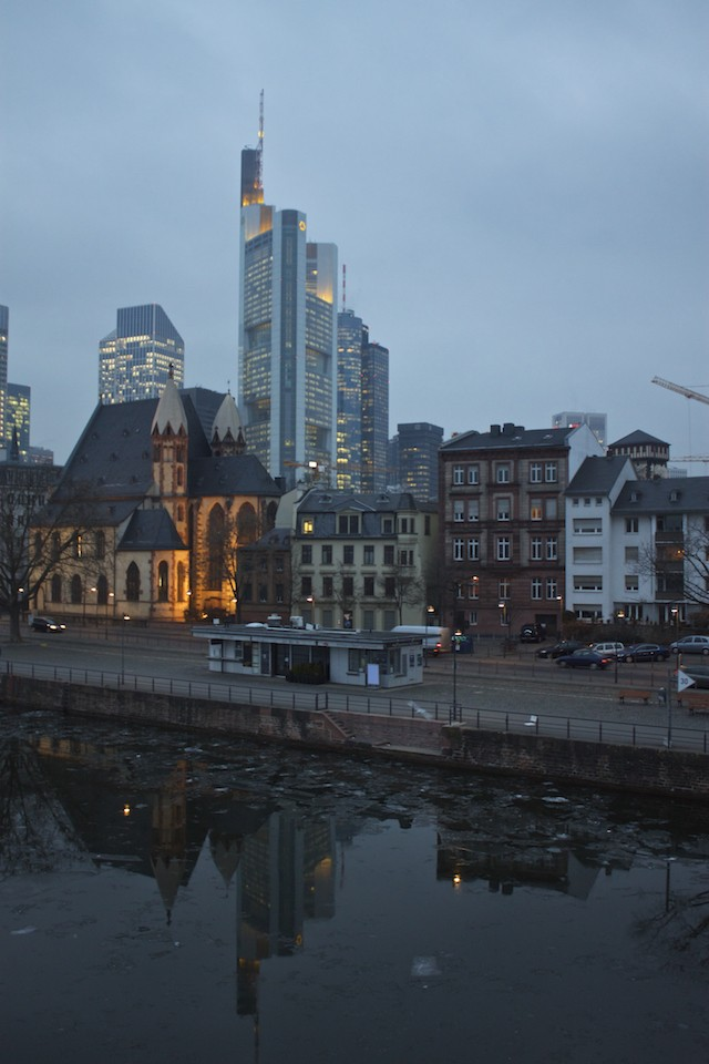 Frankfurt Photos - Old vs New Contrast Architecture