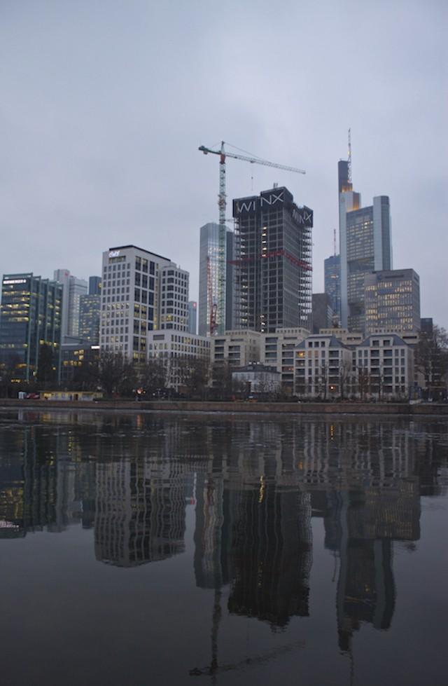 Frankfurt Photos - Skyscraper Reflections Main River