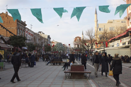 Things To Do in Edirne Turkey - Flags in Town Square