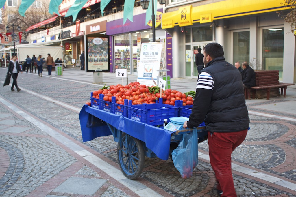 Things To Do in Edirne Turkey - Fruit Vendor