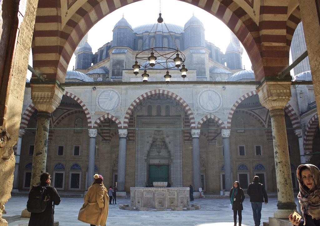 Things To Do in Edirne Turkey - Selimiye Mosque Courtyard