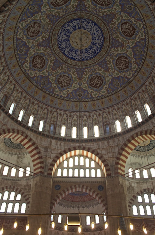 Things To Do in Edirne Turkey - Selimiye Mosque Dome Interior