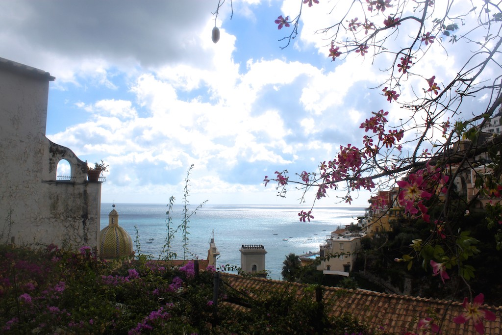 Amalfi Coast Photos - Positano Villas Overlooking Sea