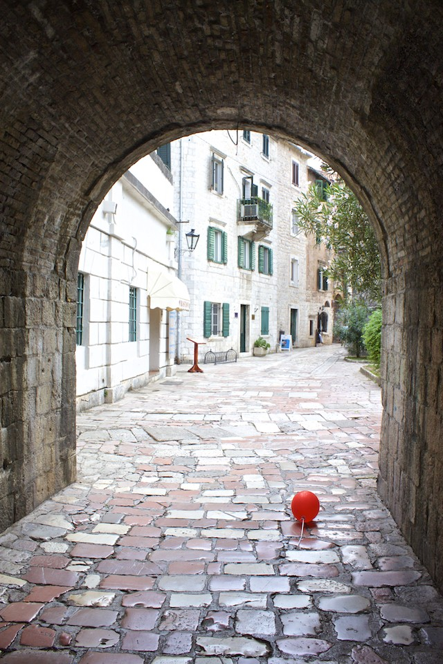 Kotor Montenegro - Lone Balloon in Old Town
