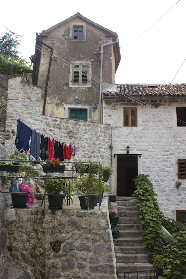Kotor Montenegro - Old Town Clothes Hanging Out to Dry