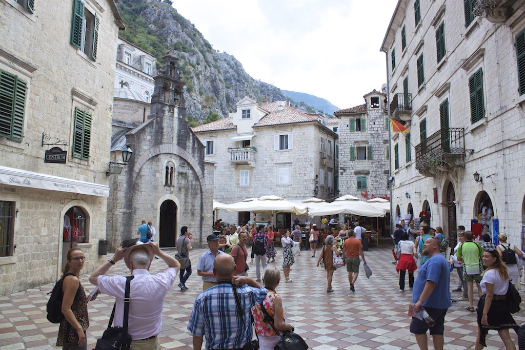 Kotor Montenegro - Old Town Crowds in Summer