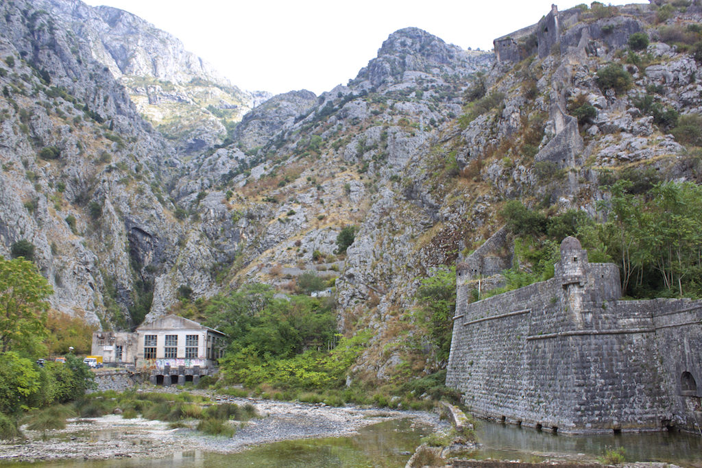 Kotor Montenegro - Old Town Fortifications and Mountains