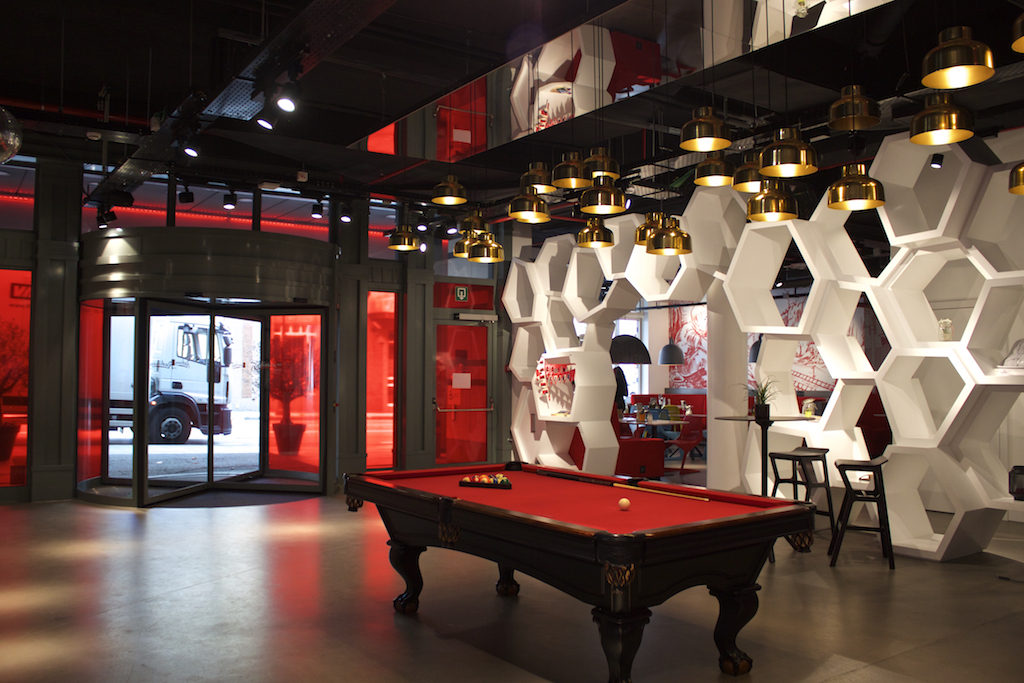 Radisson RED Brussels - Lobby With Pool Table