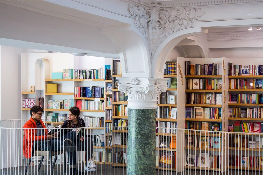 Cărturești Carusel Reading Nook - Beautiful Bookstores: Cărturești Carusel in Bucharest Romania