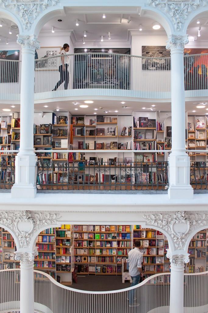 Cărturești Carusel Side View of Bookshelves