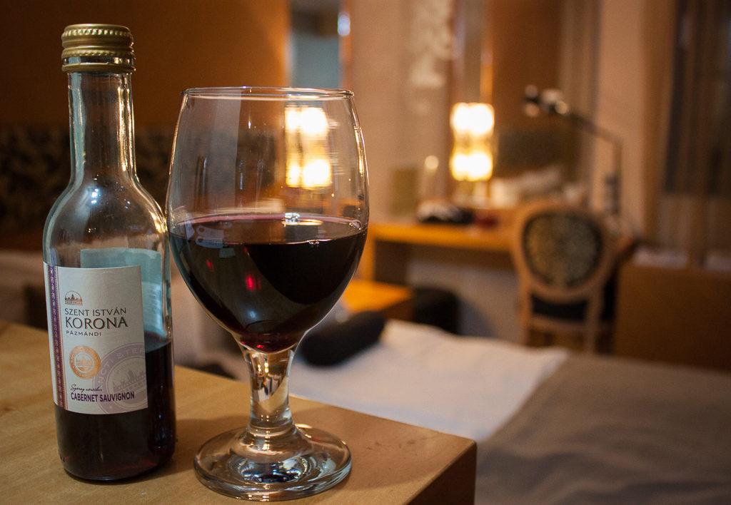 Weekend in Budapest - Marmara Hotel Budapest Wine from Mini Bar
