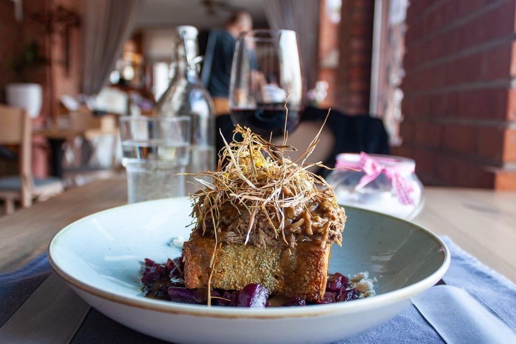Poznan Restaurants - Republika Róż Pulled Duck With Hash Browns