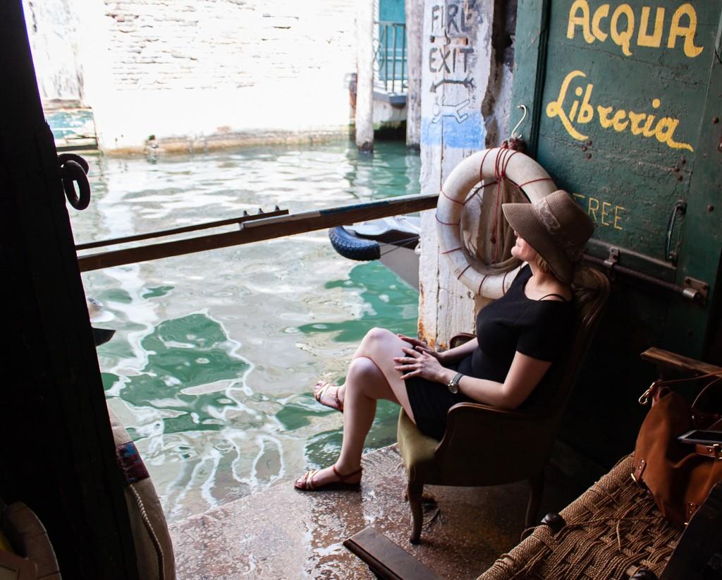 Libreria Acqua Alta Venice - Cheryl Howard Travel Blogger