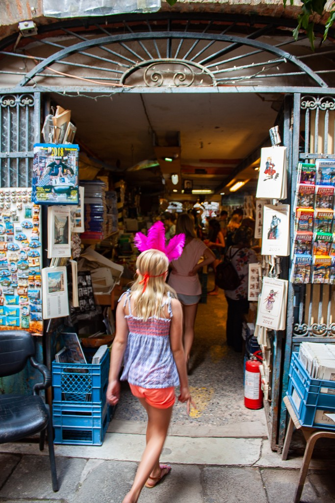 Libreria Acqua Alta Venice Italy - Entrance