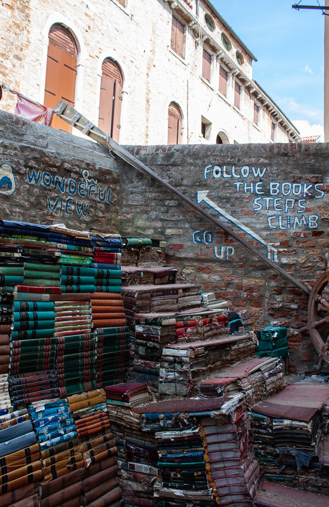 Libreria Acqua Alta Venice - Staircase of Books
