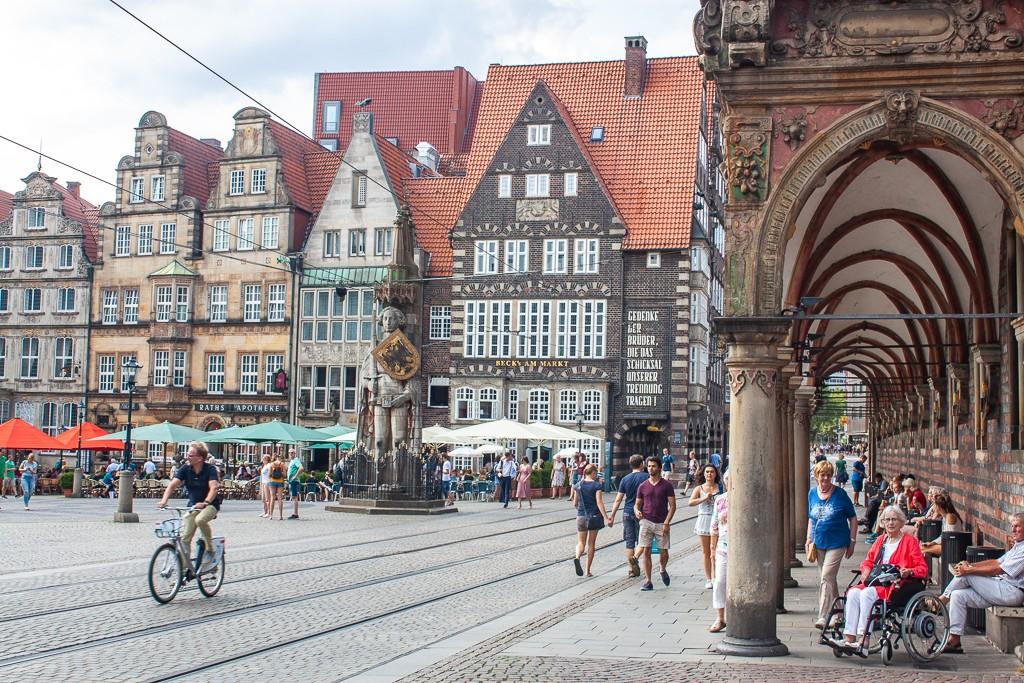 Bremen Germany - Marktplatz View from Townhall