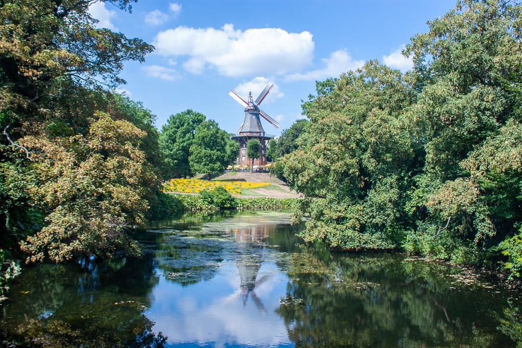 Bremen Germany - Wallanlagen Park Mühle am Wall