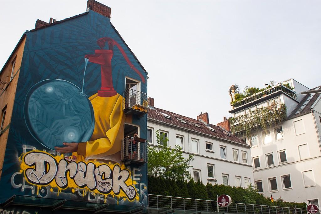 Hamburg Schanzenviertel - Street Art Mural Druck