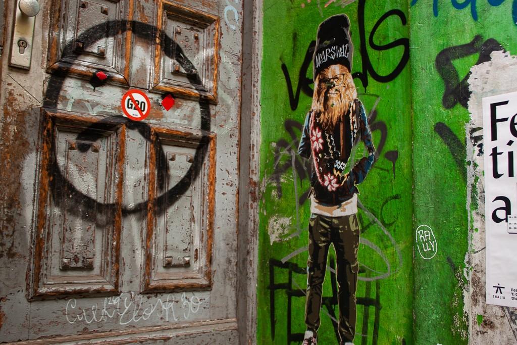 Hamburg Schanzenviertel - Chewie Street Art