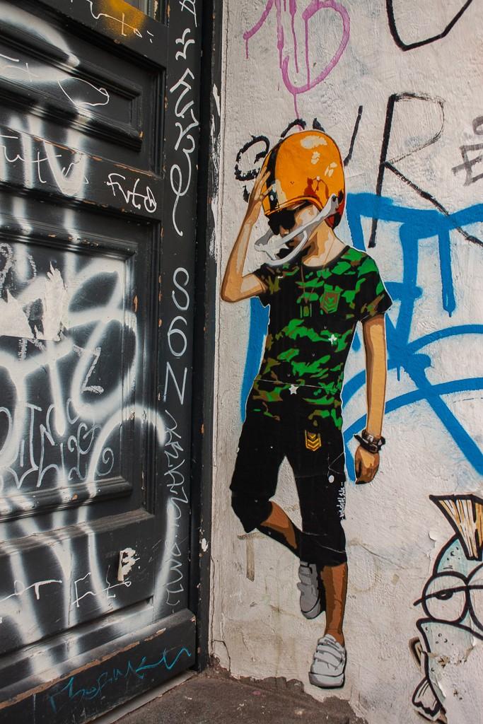 Hamburg Schanzenviertel - Street Art Boy
