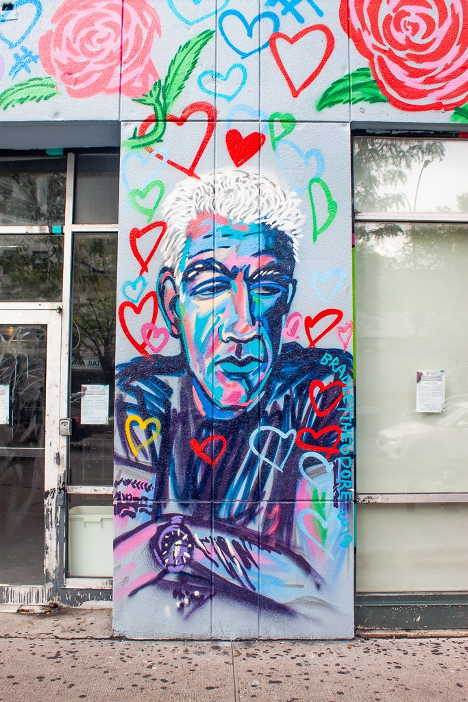 New York Street Art - Anthony Bourdain Lower East Side