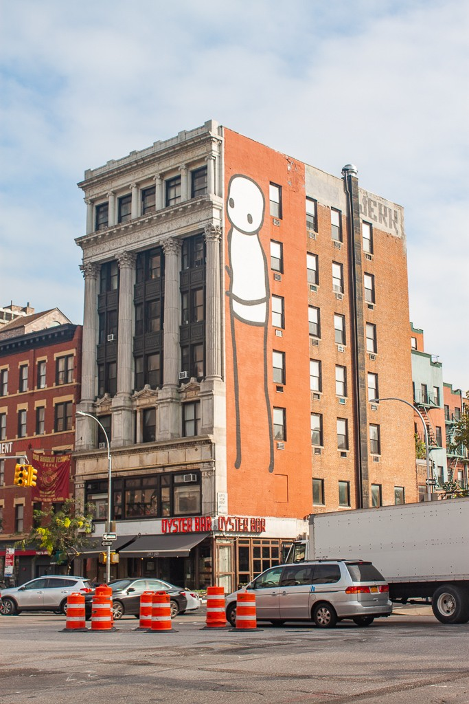 New York Street Art - Migrant by Stik