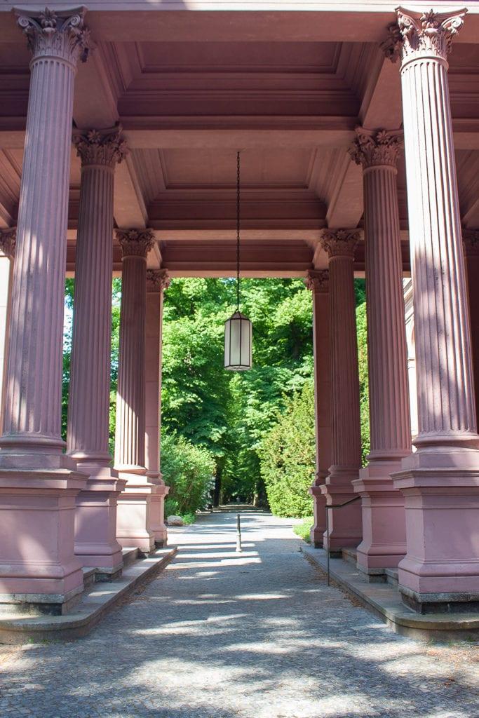 Schlosspark Biesdorf Berlin - Pink Columns