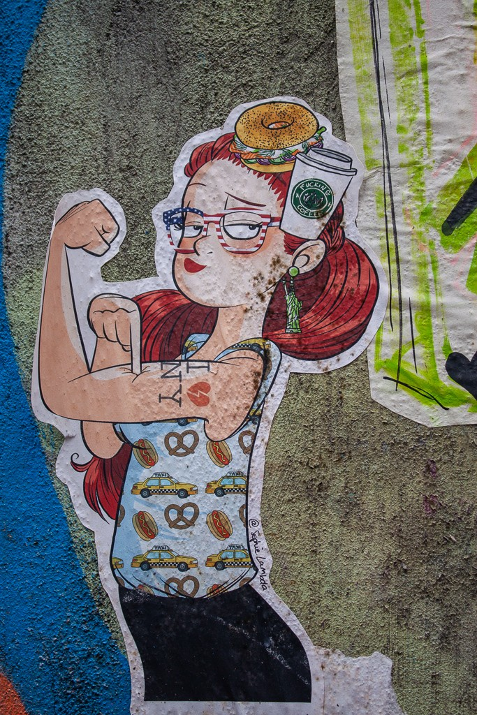 New York City Street Art - American Woman Sticker