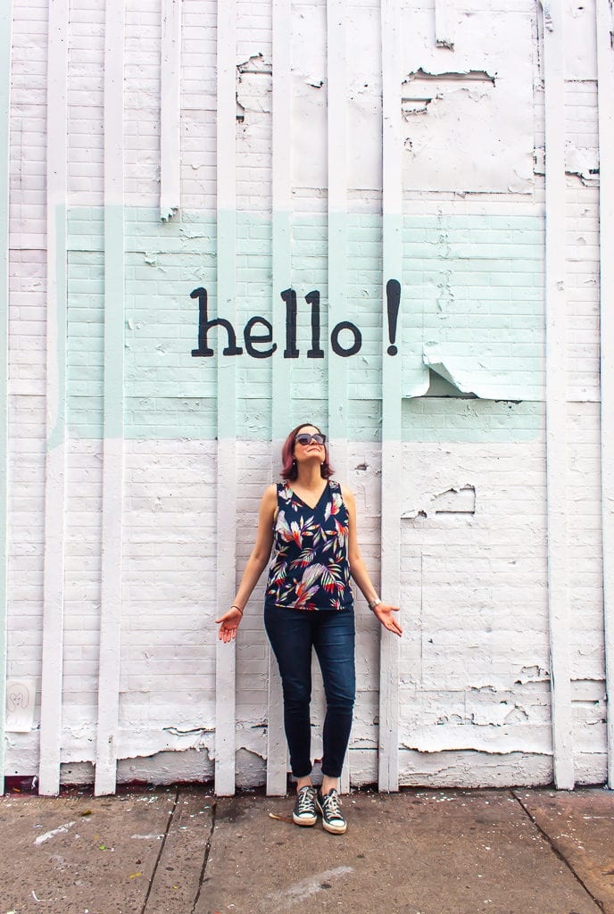 New York City Street Art - Hello Mural