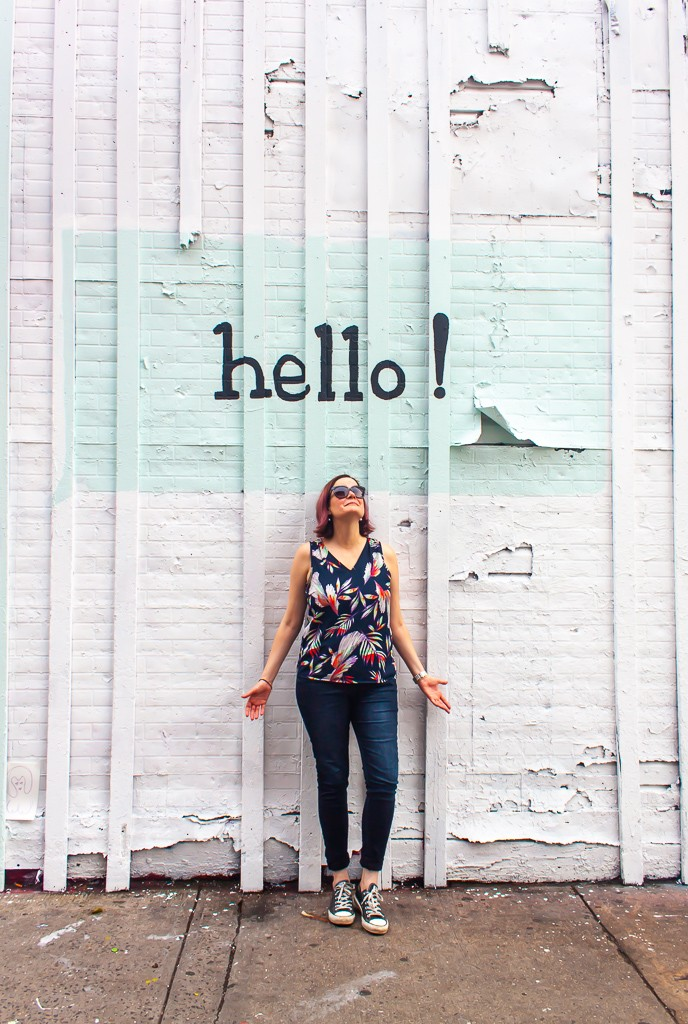 New York City Street Art - Hello Mural