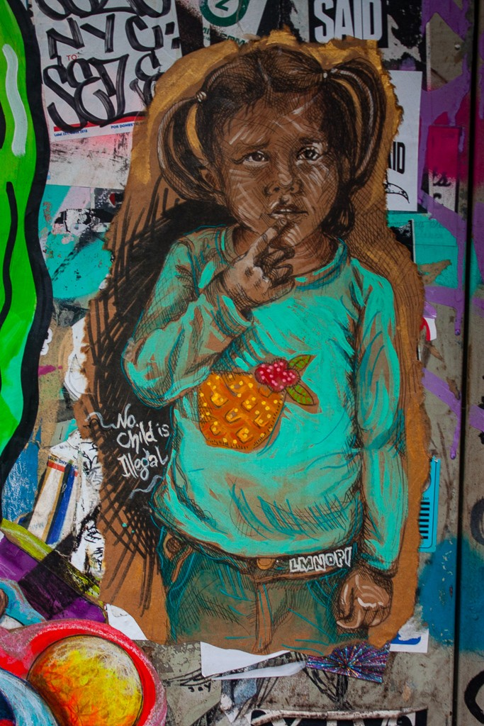 New York City Street Art - No Child Is Illegal
