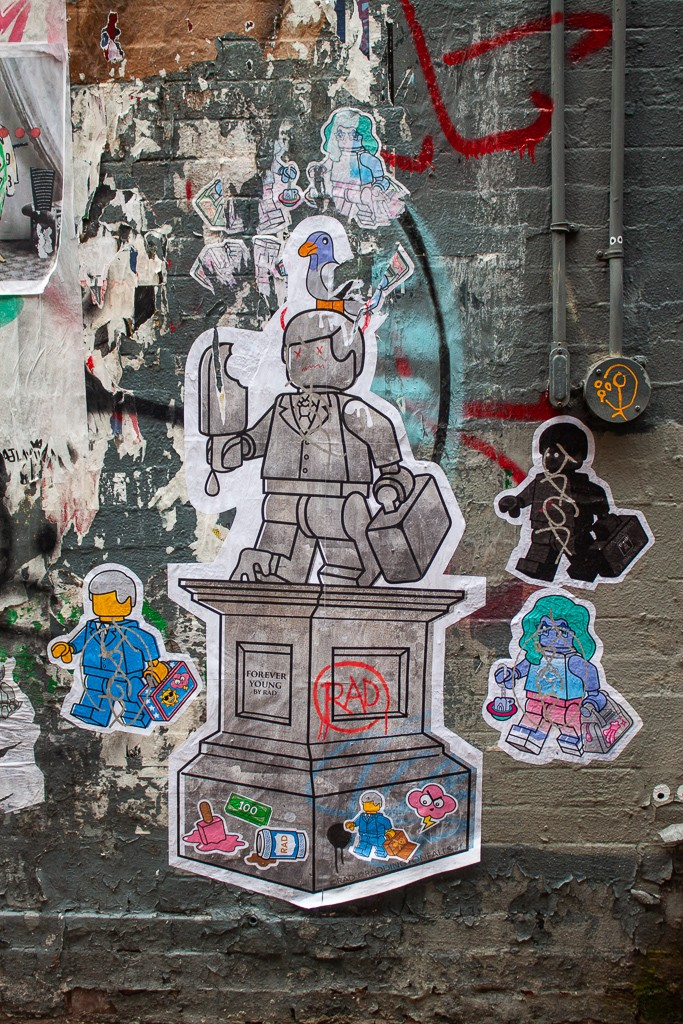 New York City Street Art - Sticker Lego People