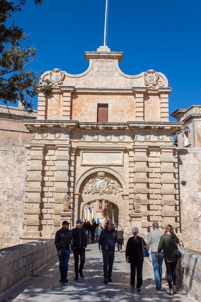 Mdina Malta - City Gate Entrance