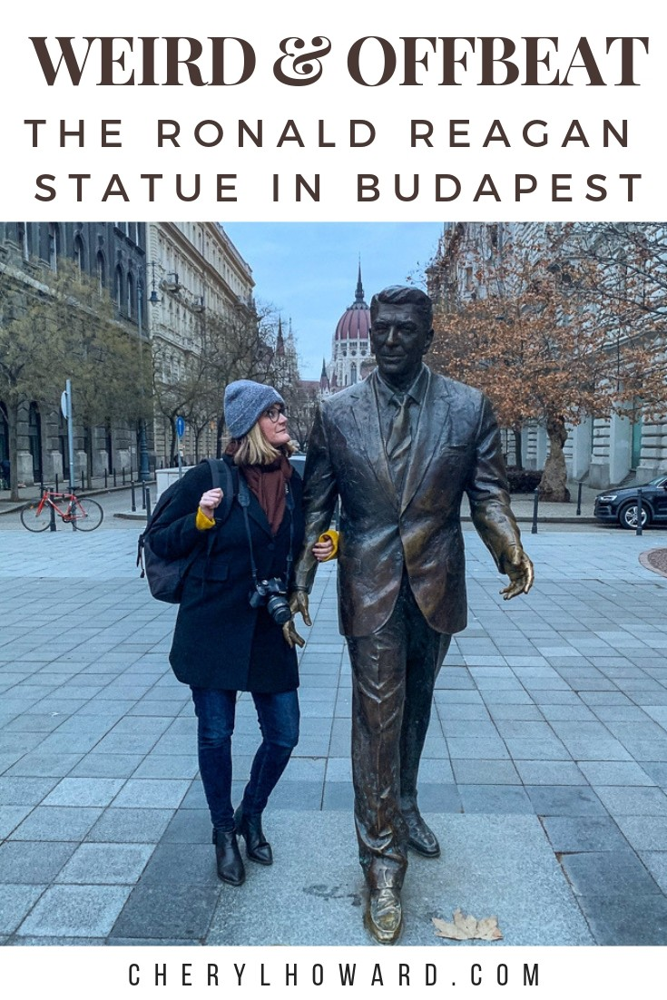 Ronald Reagan Statue in Budapest
