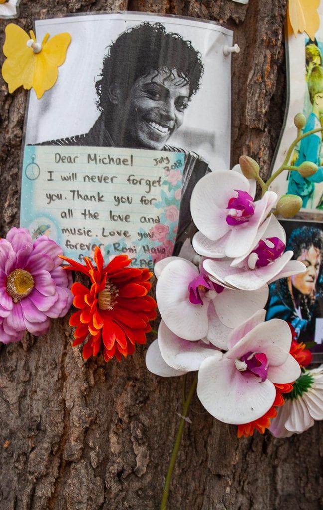 Michael Jackson Memorial Tree Budapest - Letters